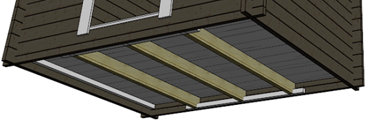 Yksinkertainen eristämätön lattia