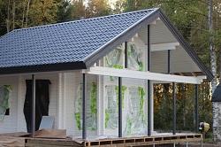 Villa OJ ennen ikkunoiden asennusta