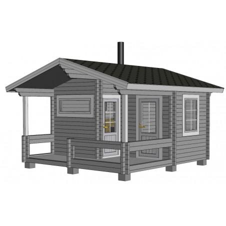 Sauna Keno - Mallinnuskuva etuoikealta