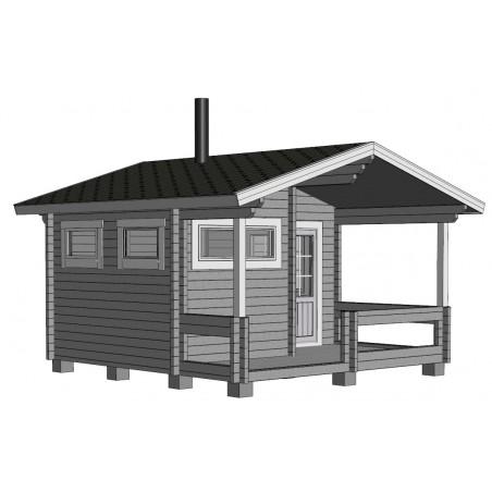 Sauna Keno - Mallinnuskuva etuvasen