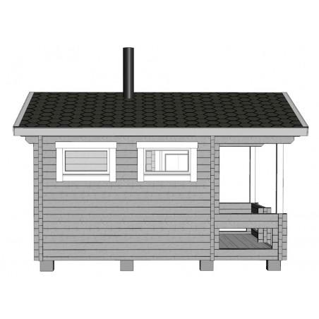 Sauna Keno - Mallinnuskuva vasen
