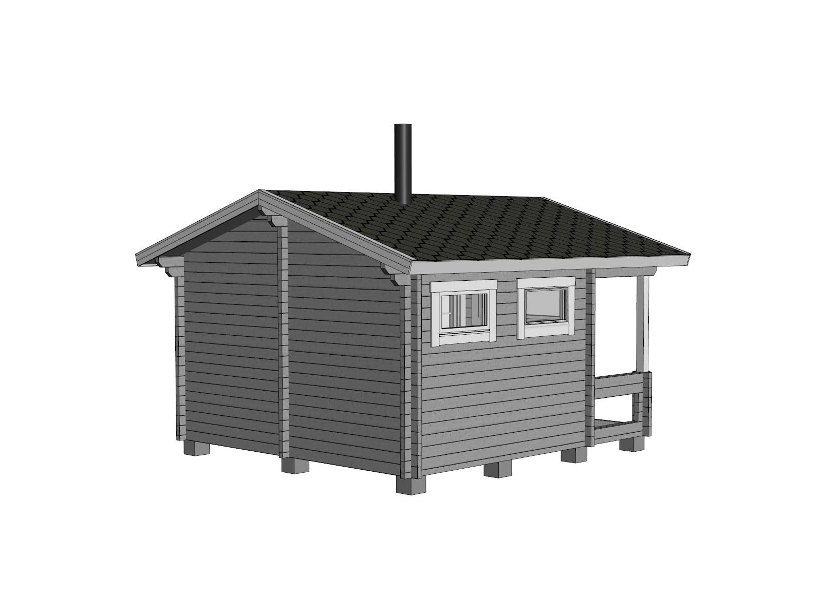 Sauna Keno - Mallinnuskuva takavasen