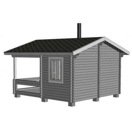 Sauna Keno - Mallinnuskuva takaoikea
