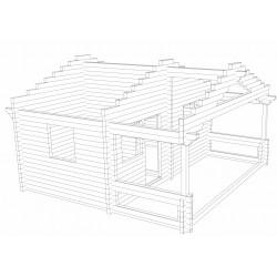 Sauna Sointu - Hirsikehikko 3D