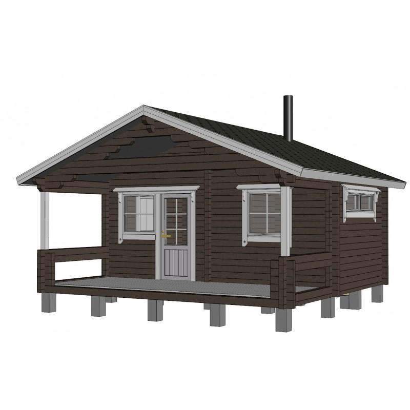 Sauna Sointu - 3D mallinnuskuva