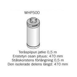 Harvia teräspiipun jatke 0.5m WHP500