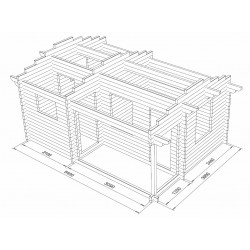 Hirsikehikko, sauna Siesta, 70 mm