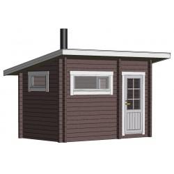 Sauna Loimu - Mallinnus etuvasemmalta