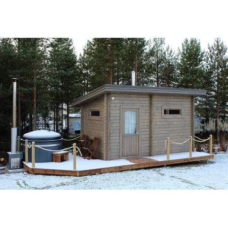 Sauna Jaala - Valokuva etuvasemmalta talvikuva