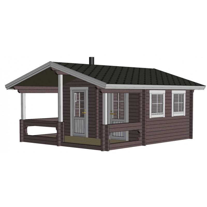 Sauna Mieto -  Mallinnus etuoikealta