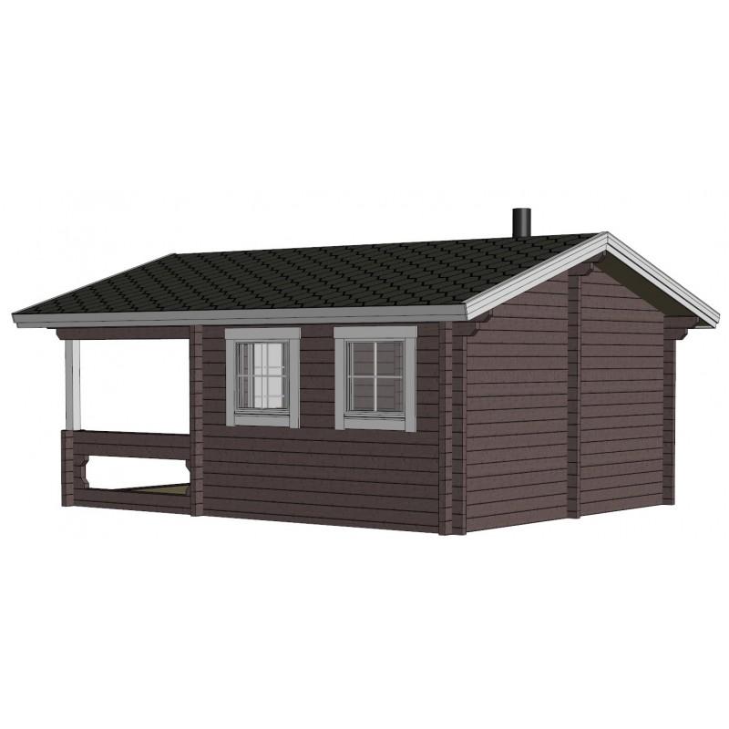 Sauna Mieto -  Mallinnus takaoikealta