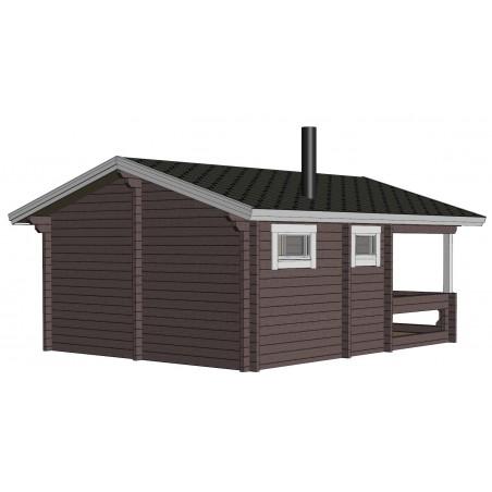 Sauna Mieto -  Mallinnus takavasemmalta