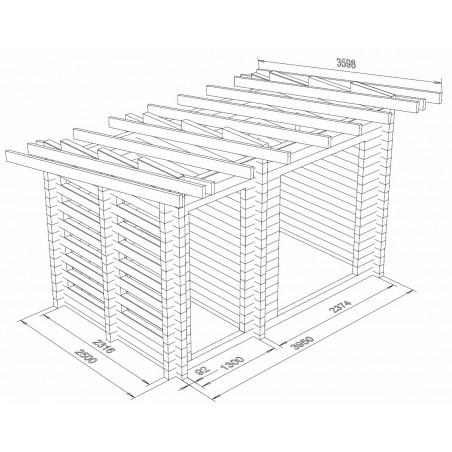 Varastoliiteri 10 - Hirsikehikko 3D-kuvana