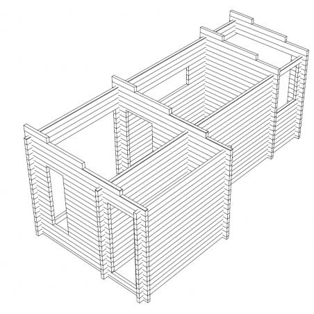 Sauna Pisara - Hirsikehikon 3D malli