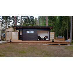 Sauna Pisara - Asiakkaan ottama valokuva rakennusprojektin edetessä