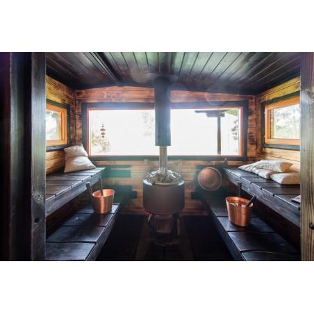 Saunamökki Kieleke - Valokuva saunasta suoraan ovelta