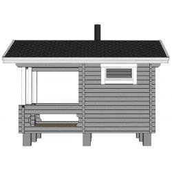 Sauna Kurkilampi - mallinnuskuva oikealta