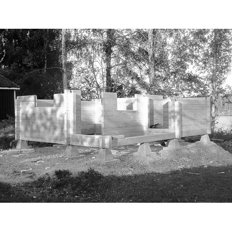 Hirsikehikko Sauna Siesta (90x195) - Hirsikehikon kasausta