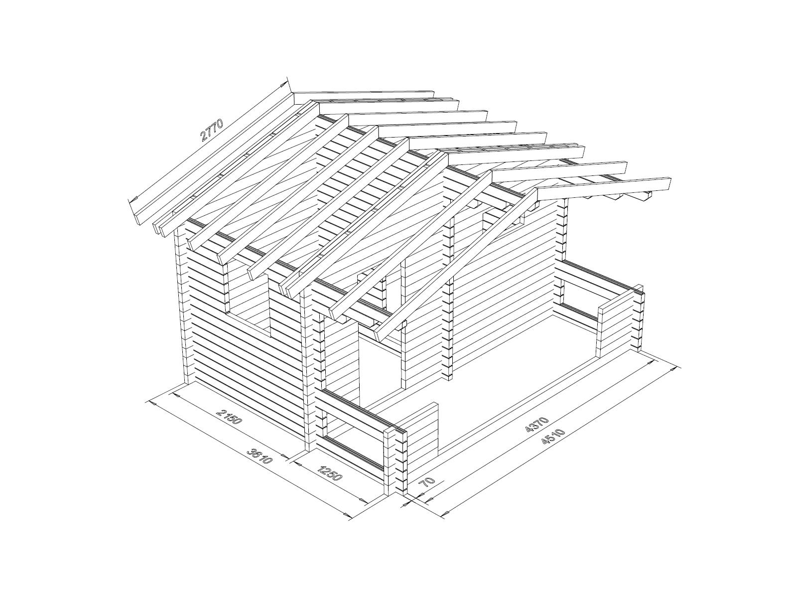 Hirsikehikko Rento Plus 70 mm - Hirsikehikko-ja-kattokannattimet