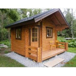 Hirsikehikko, sauna Soma, 70 mm - Asiakkaan pystyttämä sauna