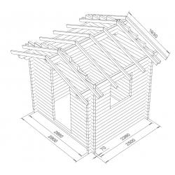 Hirsikehikko, Varasto Seiska, 70x145 - Hirsikehikon 3D mallinnus