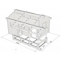 Hirsikehikko Pikkukeidas 90x195 - 3D-Mallinnus