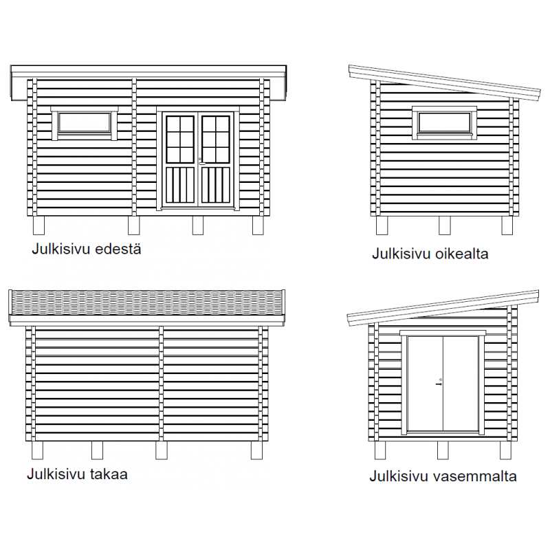 Hirsikehikko Parivarasto Maikkala 15 90x195 - Julkisivut tasoprojektioina