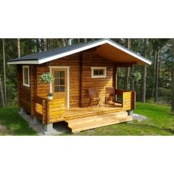 Hirsikehikko, sauna Rento Plus sivuikkunalla, 70 mm