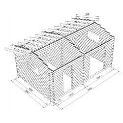 Harjaheikki 20, 70x145 - Hirsikehikon runkomalli