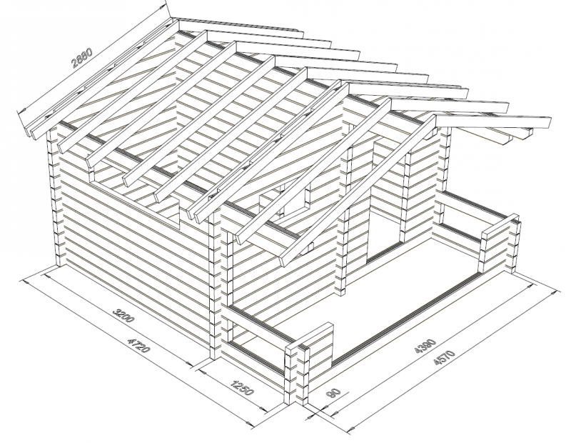 Rento Plus - Pidennetty malli 90x195 - Hirsikehikon rautalankamalli ja kattoniskat