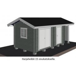 Parivarasto Harjaheikki 15 - Sivukatoksellinen malli