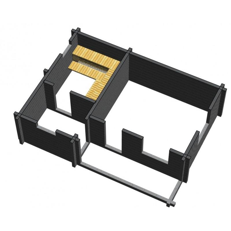 Saunamökki Sisutupa (136 mm hirsi) - Nurkkaliitosten rakenteet