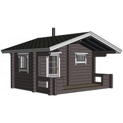 Sauna Siima (136 mm hirsivahvuus)  - Mallinnuskuva