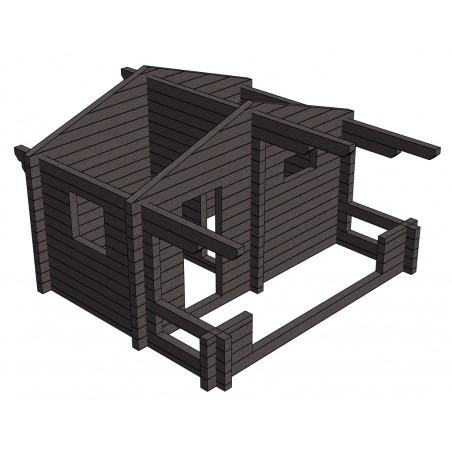 Sauna Siima (136 mm hirsivahvuus)  - Hirsikehikko